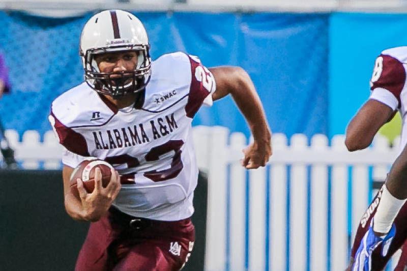 Alabama A&M running back Jordan Bently has a lot of talent. — PHOTO COURTESY OF ALABAMA A&M UNIVERSITY