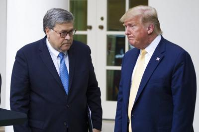 Attorney General William Barr and President Donald Trump