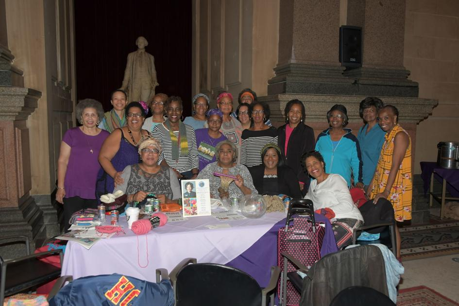 Community members stage a 'knit-in'