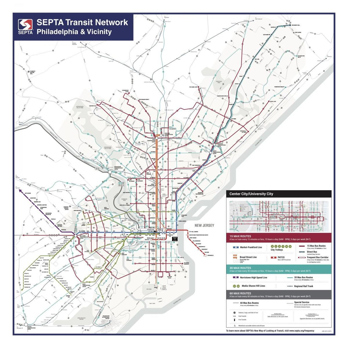 Septa Gets Bold With New Transit Map Local News