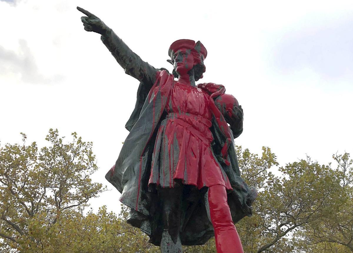 Columbus Statue Vandalized