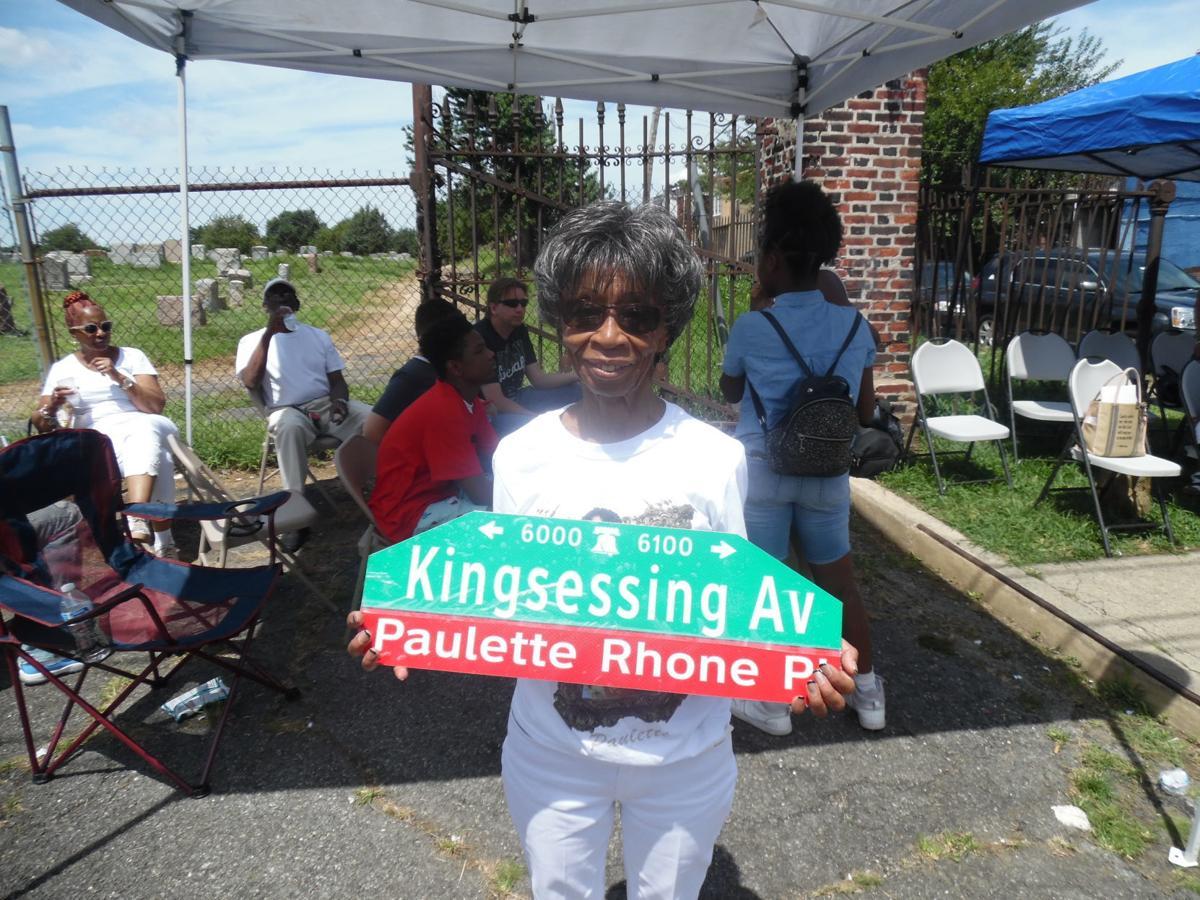 Paulette Rhone sign