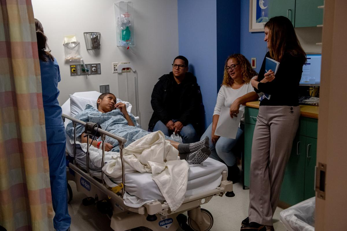 Doctor with Helen Obando and parents