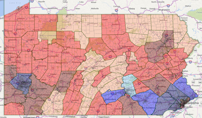 Pennsylvania voting districts