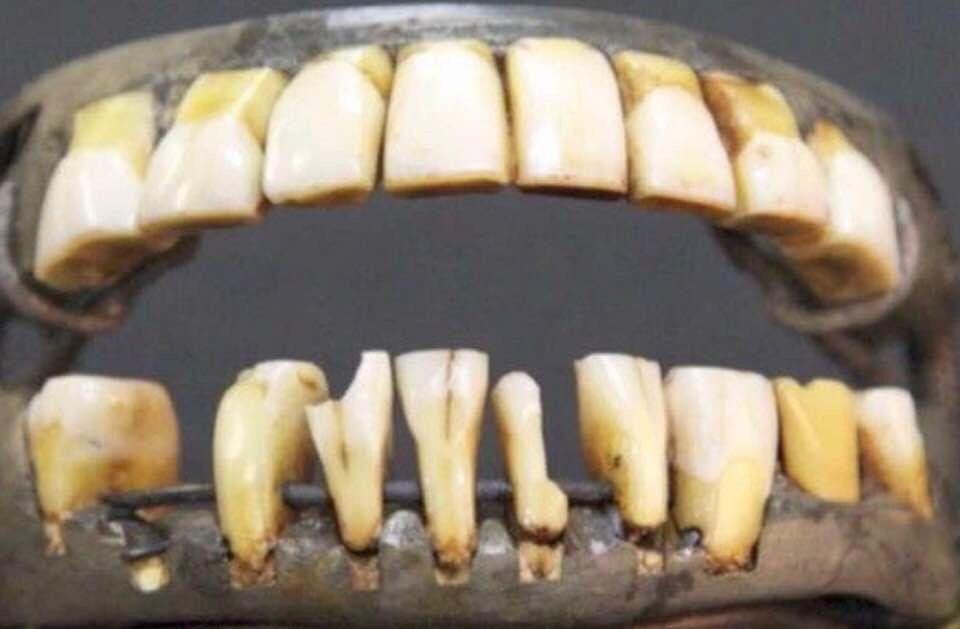 Coard George Washington S Teeth Not From Wood But Slaves