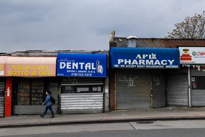 Businesses in the Jamaica neighborhood of Queens