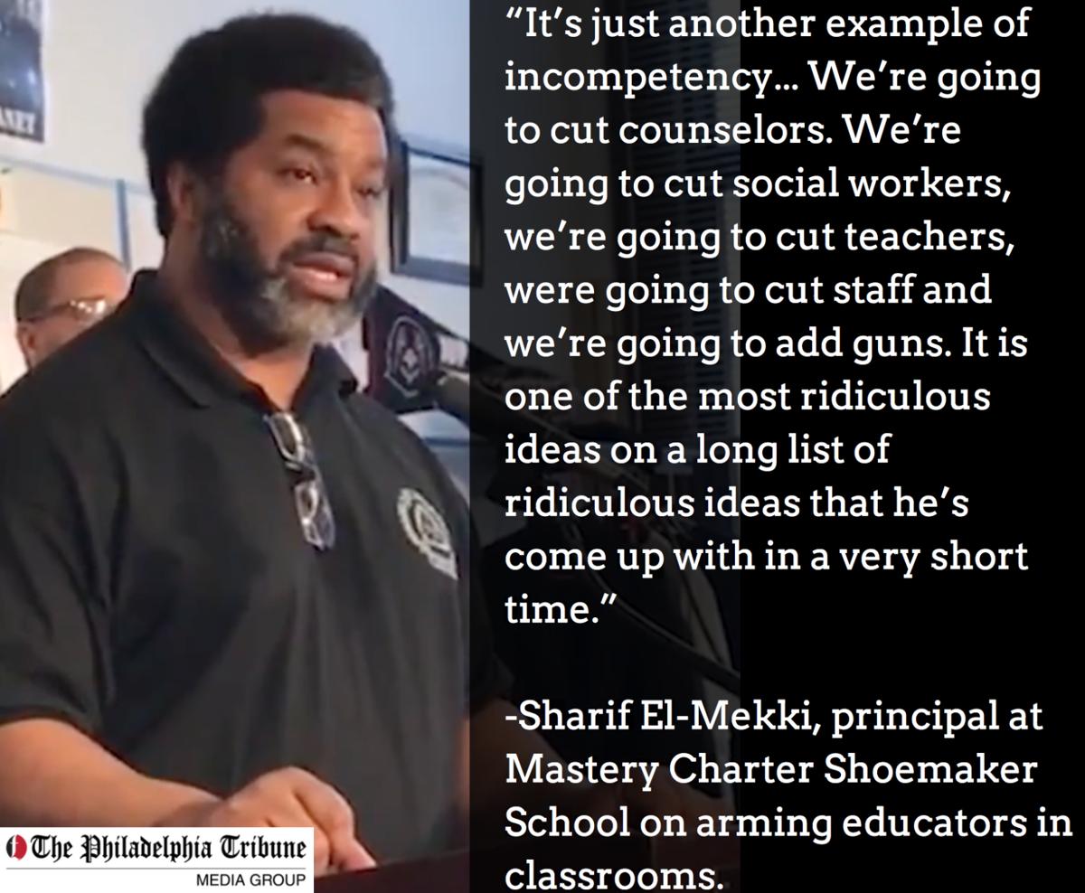 Sharif El-Mekki on guns in classroom