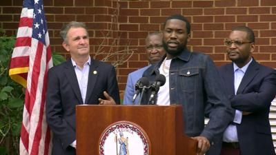 Ralph Northam and Meek Mill