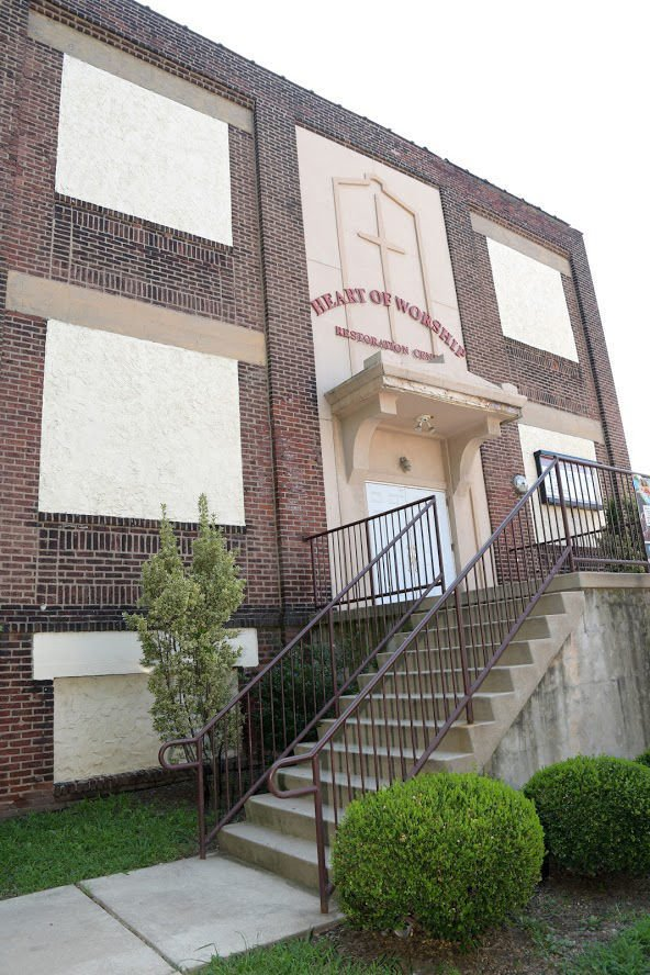 Heart of Worship Restoration Center is located at 5317 N 3rd St.— PHOTOS BY MARISSA WEEKES MASON