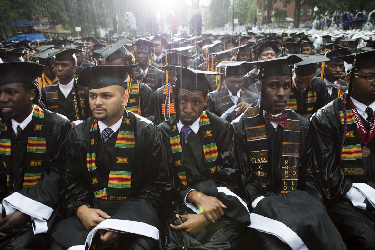 Graduates listen to President Barack Obama
