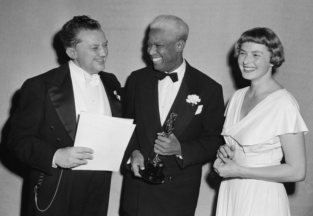 Song of the South - Jean Hersholt, from left, James Baskett, and Ingrid Bergman