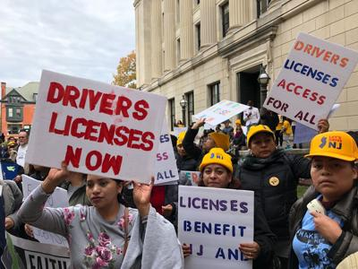 Rally for drivers' licenses for immigrants