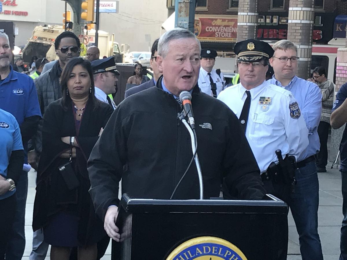 Mayor Jim Kenney at Kensington cleanup