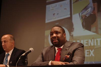 councilman kenyatta johnson, shown here participating in recent community sustainability initiative and public stakeholder discussion