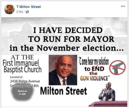 T. Milton Street campaign announcement