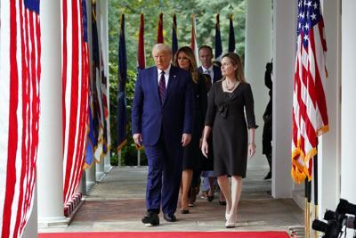 Trump in the Rose Garden
