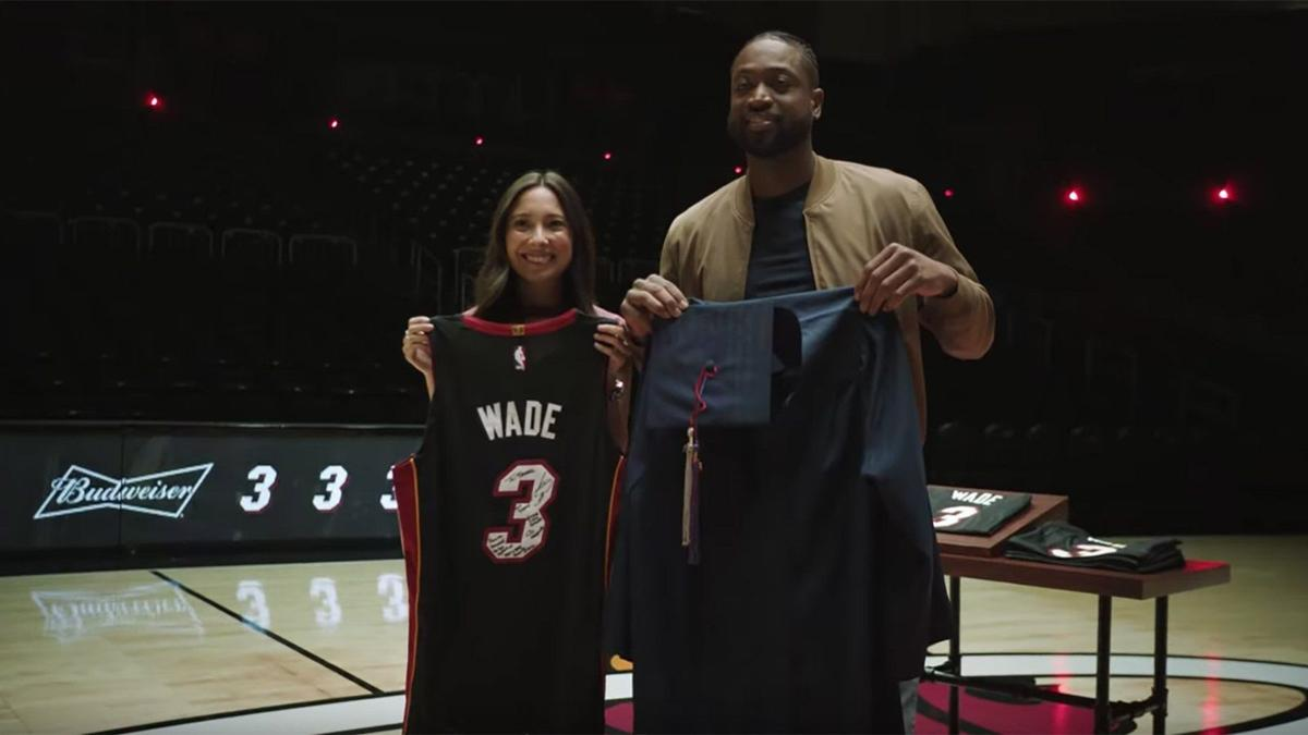 64e7a0a0290 Budweiser's deeply emotional advertisement reminds everyone that Dwyane  Wade's impact off the court was just as profound as his game on the court.