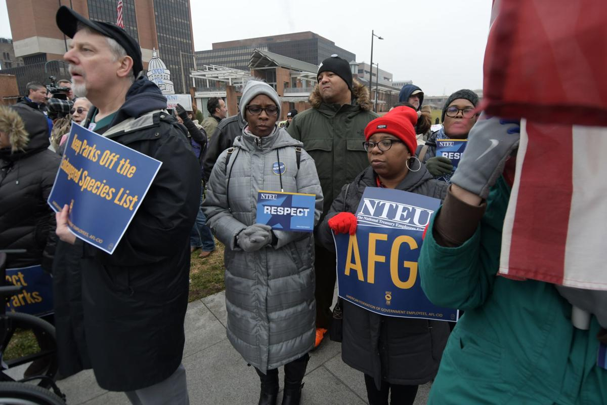 Federal workers protest