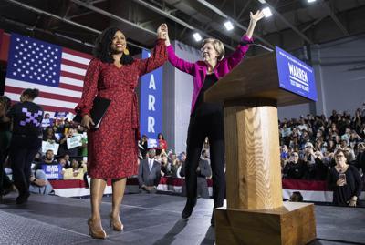 Elizabeth Warren and Ayanna Pressley