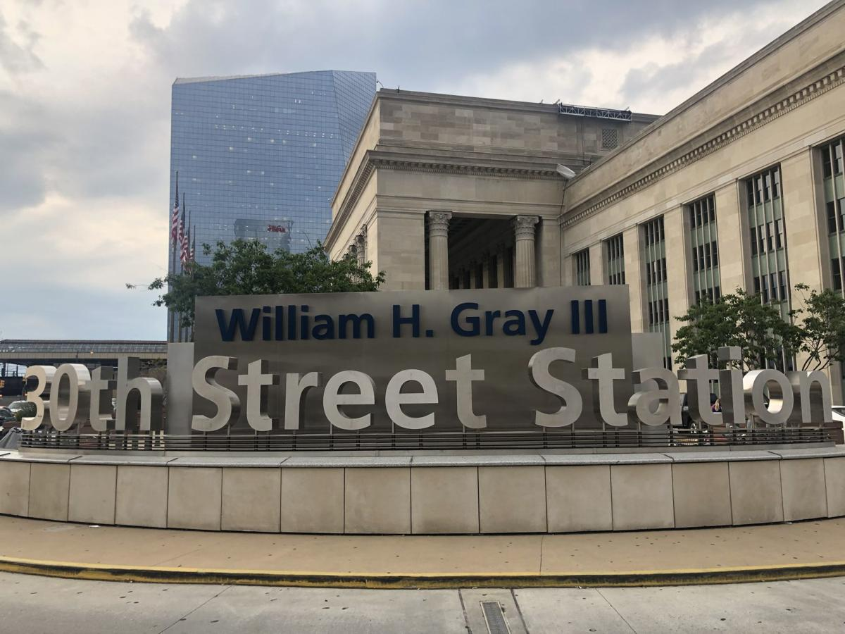 William H. Gray 30th Street Station signs