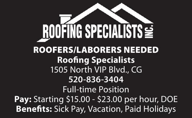 Roofers/Laborers Needed - Roofing Specialists