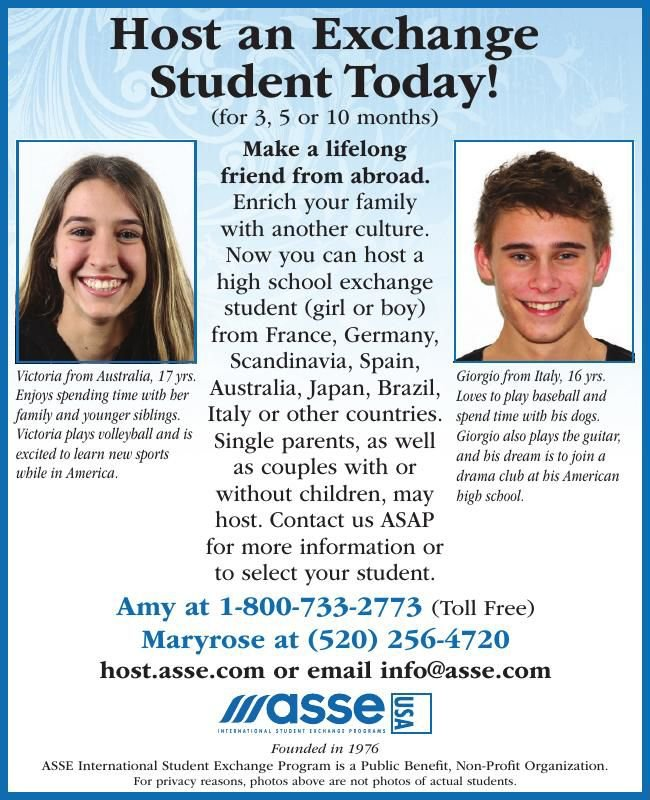 Host an Exchange Student Today! ASSE International Student Exchange Program
