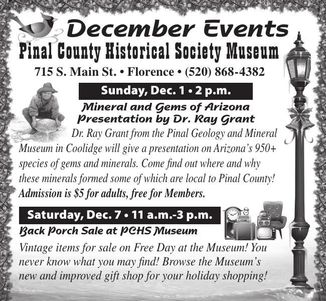December Events - Pinal Historical Society Museum