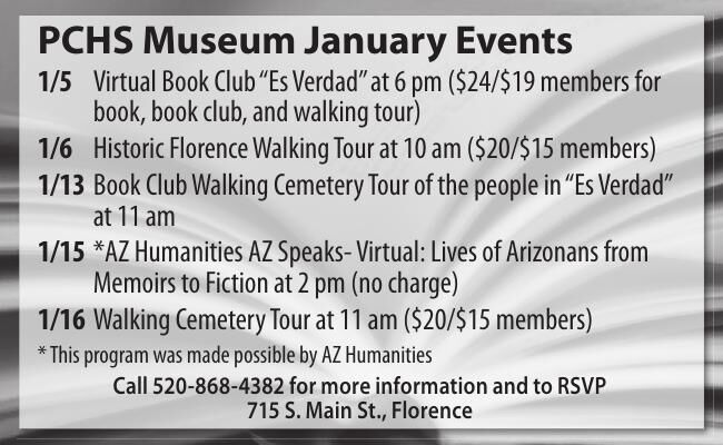 Pinal County Historical Museum January Events