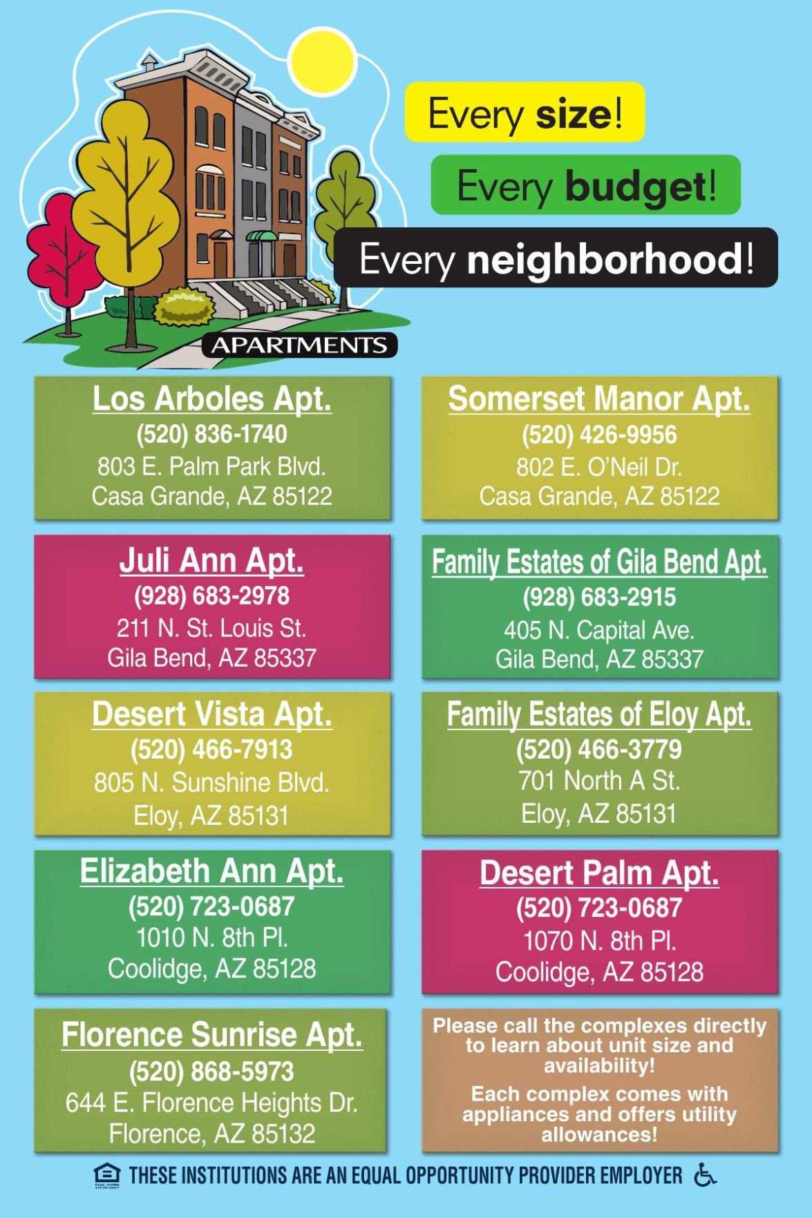 Every size! Every budget! - Landmark Apartments