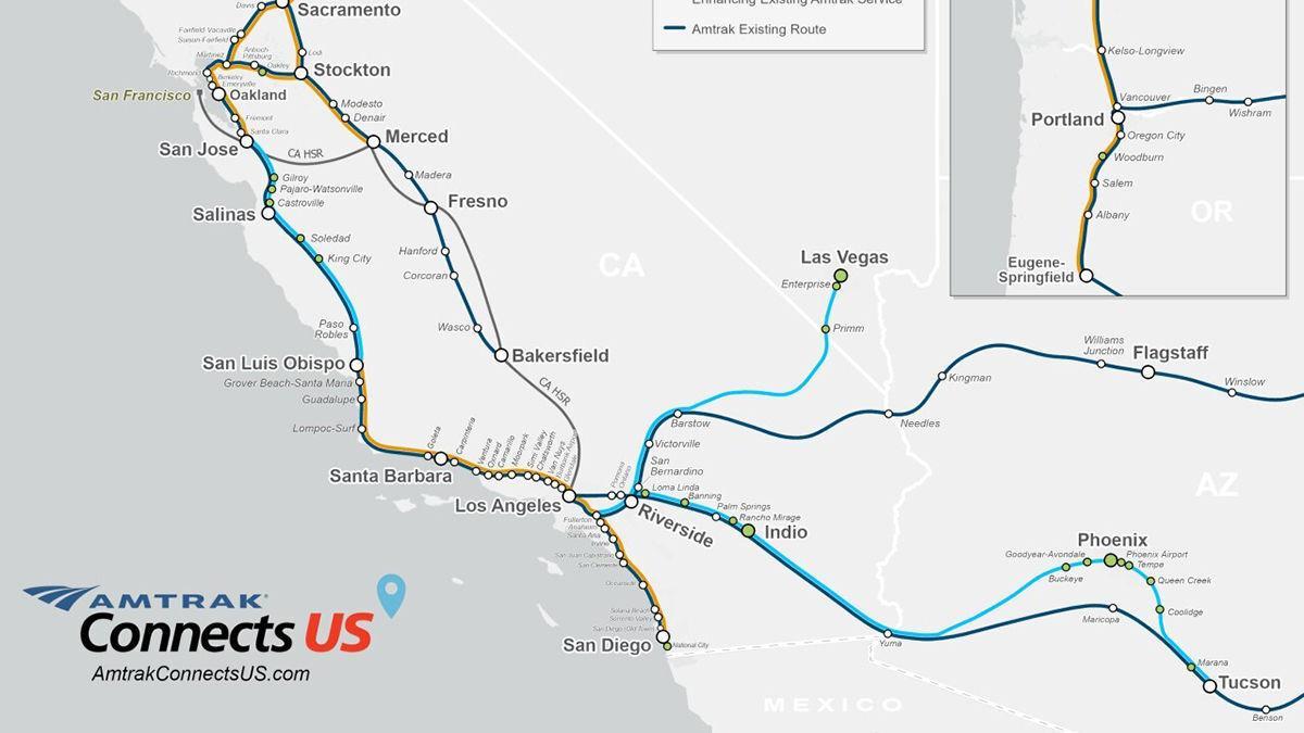 Amtrak July 2021 Tucson-Phoenix Expansion