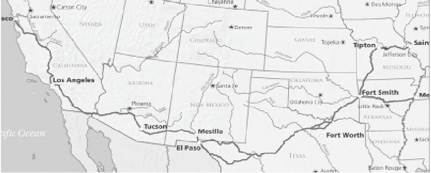 Map Of Arizona 1858.Along The Butterfield Trail Around Arizona Pinalcentral Com
