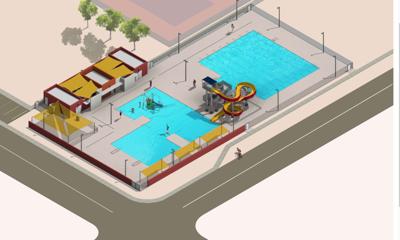 Conceptual rendering of new Coolidge aquatic center