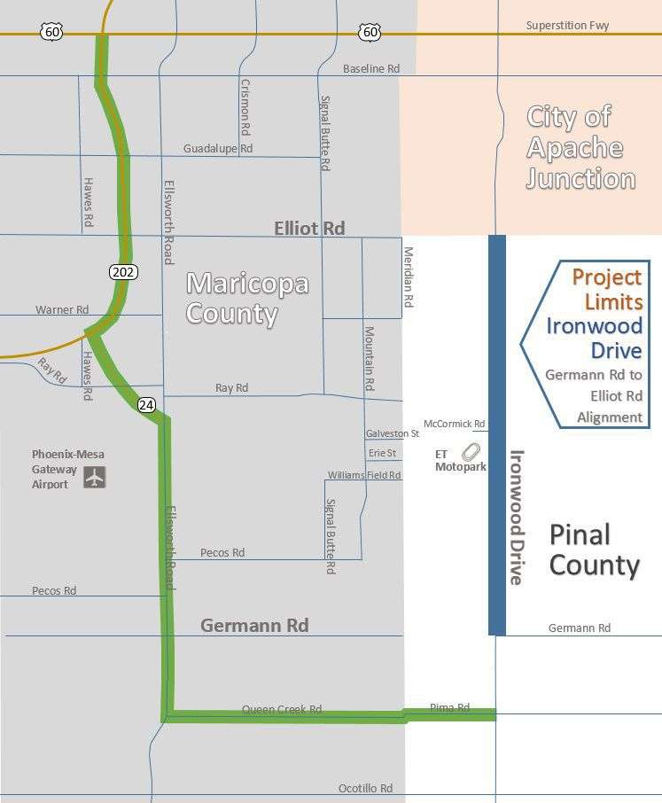 road improvements continue on ironwood drive in northern pinal