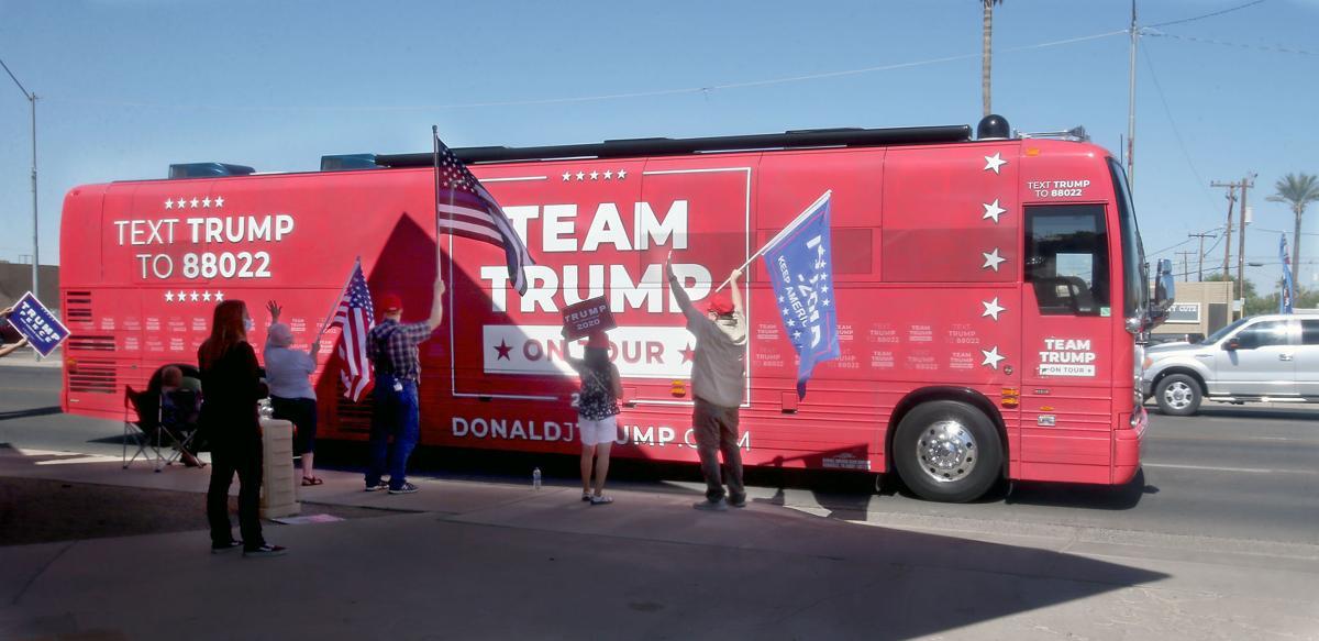 Team Trump tour bus