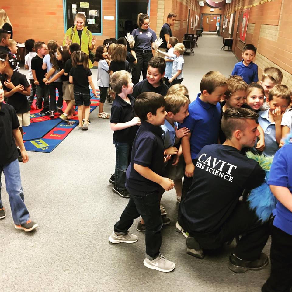 Schools Education6 25 18students: CAVIT Fire Students Stress Water Safety In Visit To