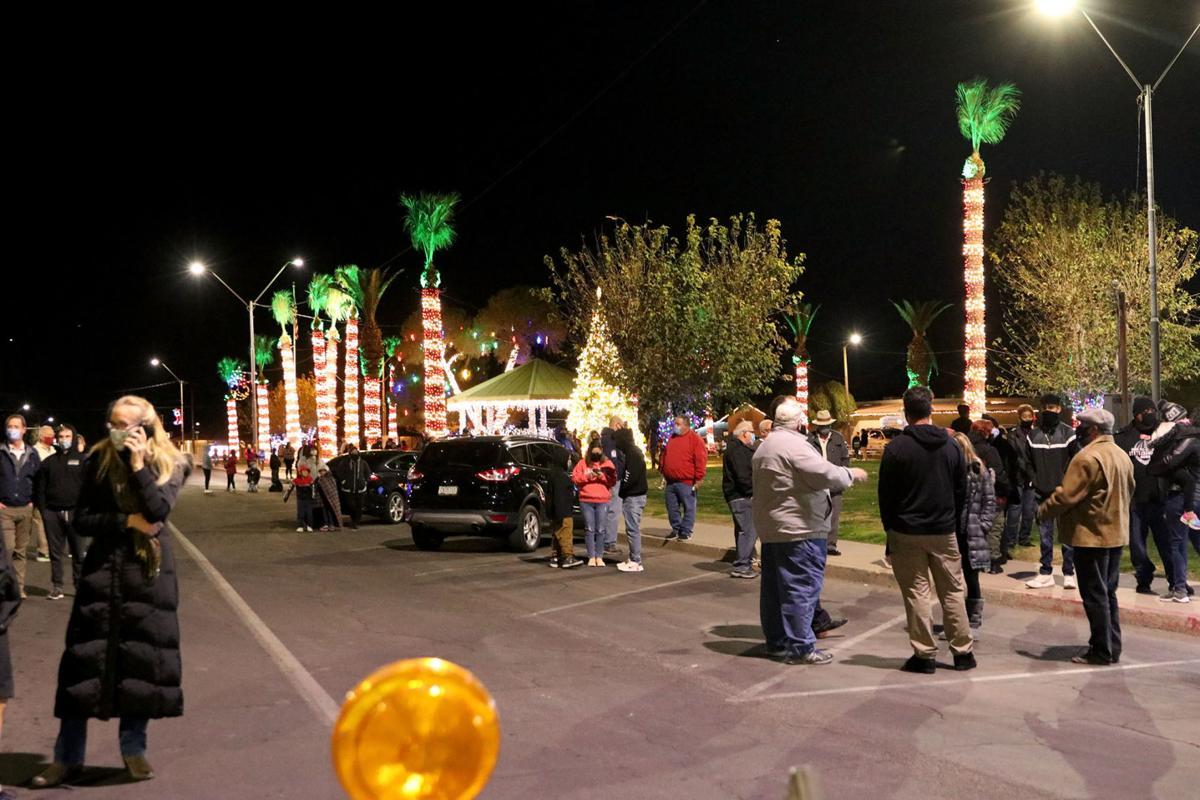 Eloy water tower lighting ceremony 12/30/20