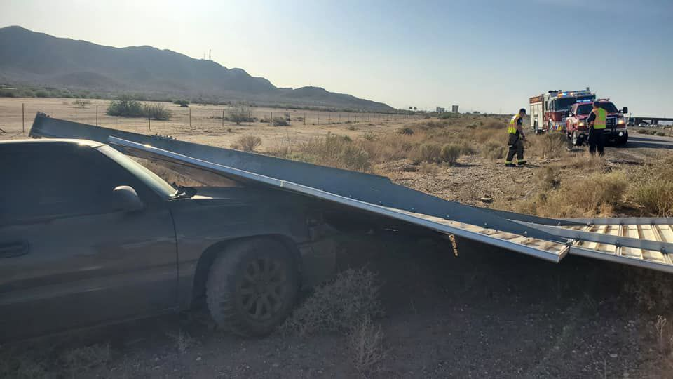 Eloy highway sign accident