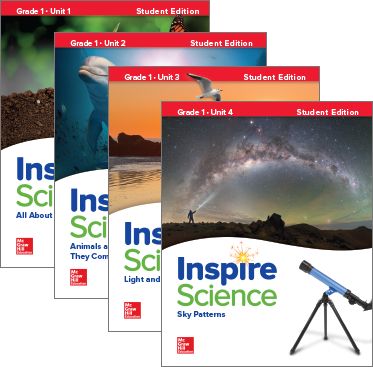 Inspire Science Grade 1 covers