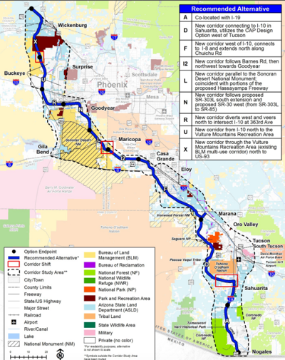 I-11 Recommended Corridor