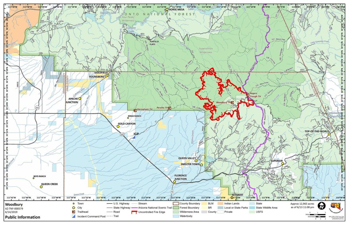 Pinal wildfire closes scenic highway along Salt River