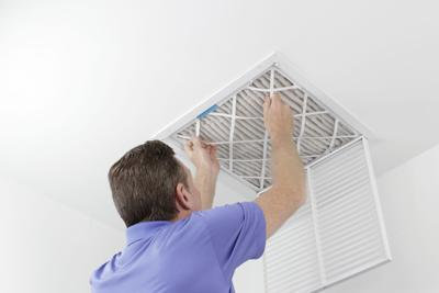 Removing Ceiling Air Filter