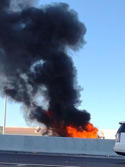 I-10 Vehicle Fire