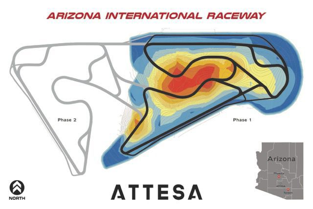 Attesa raceway map