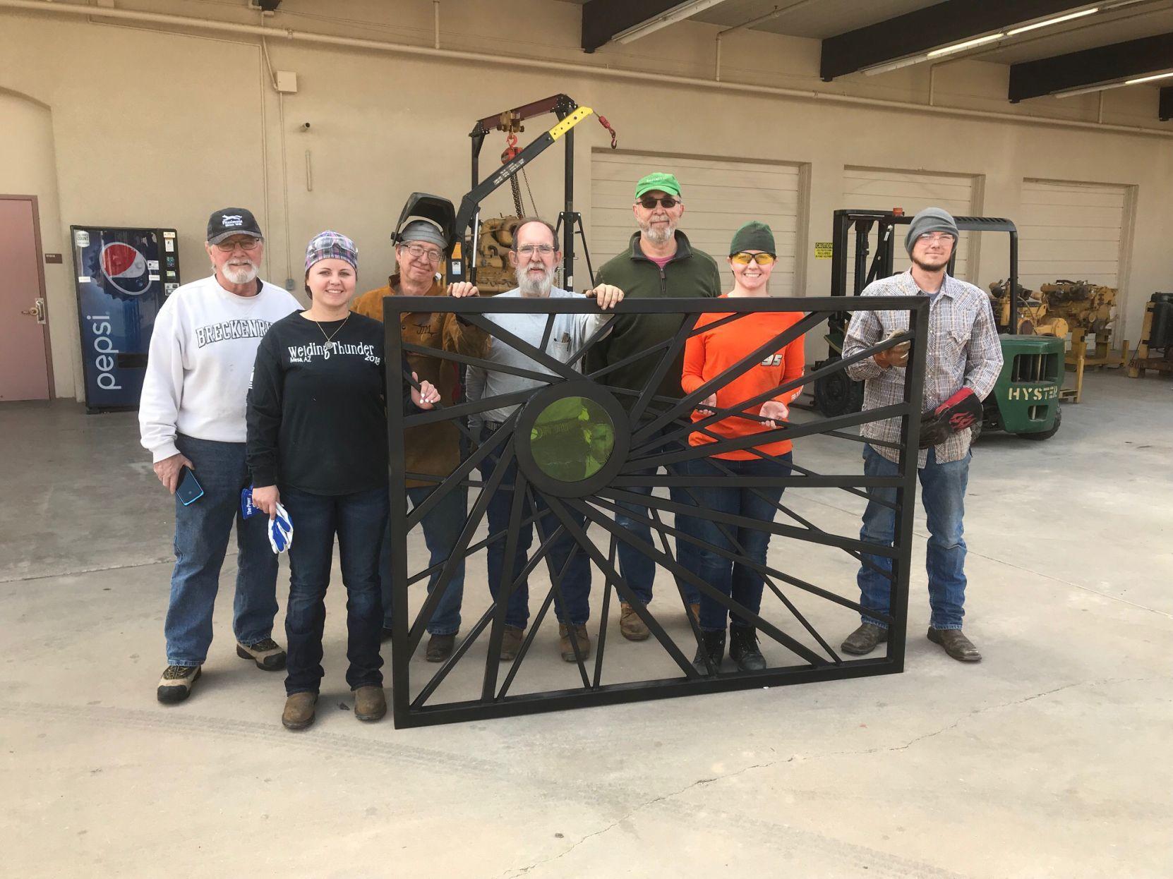 Custom-made steel panel from CG art museum fence stolen