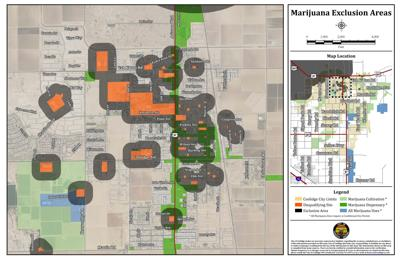Coolidge Marijuana Zoning Map