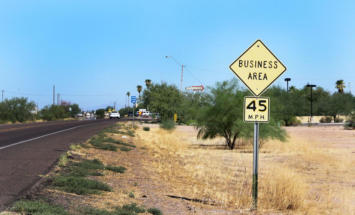Advisory speed limit sign