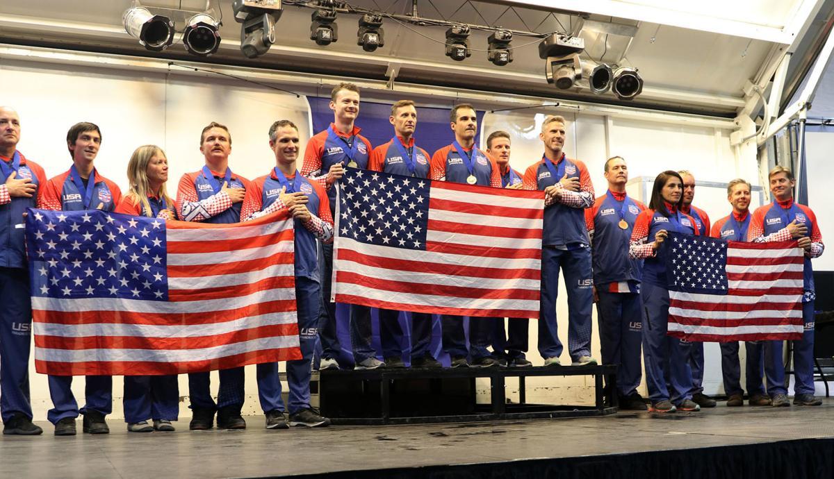 FAI World Cup medal ceremony
