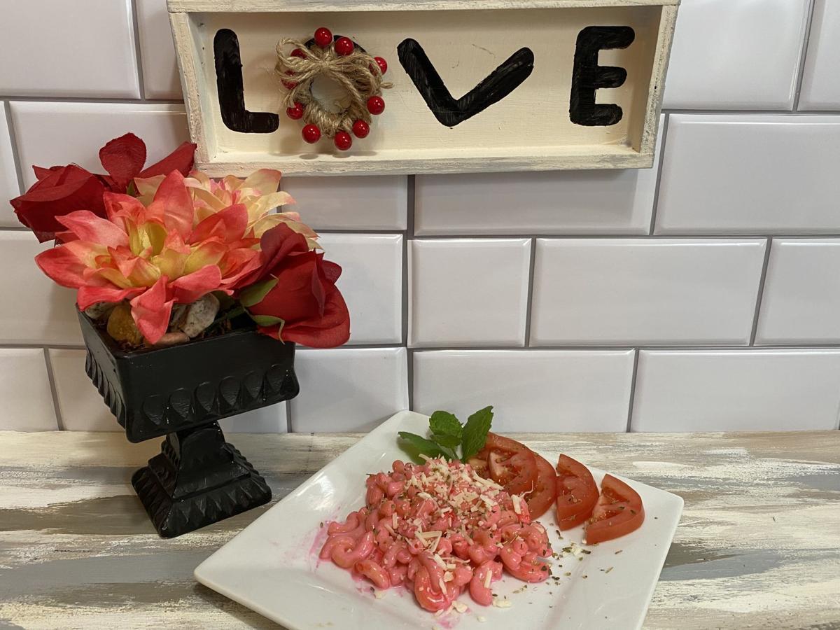 Pink macaroni and cheese
