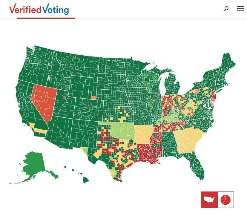 VerifiedVoting map of elections