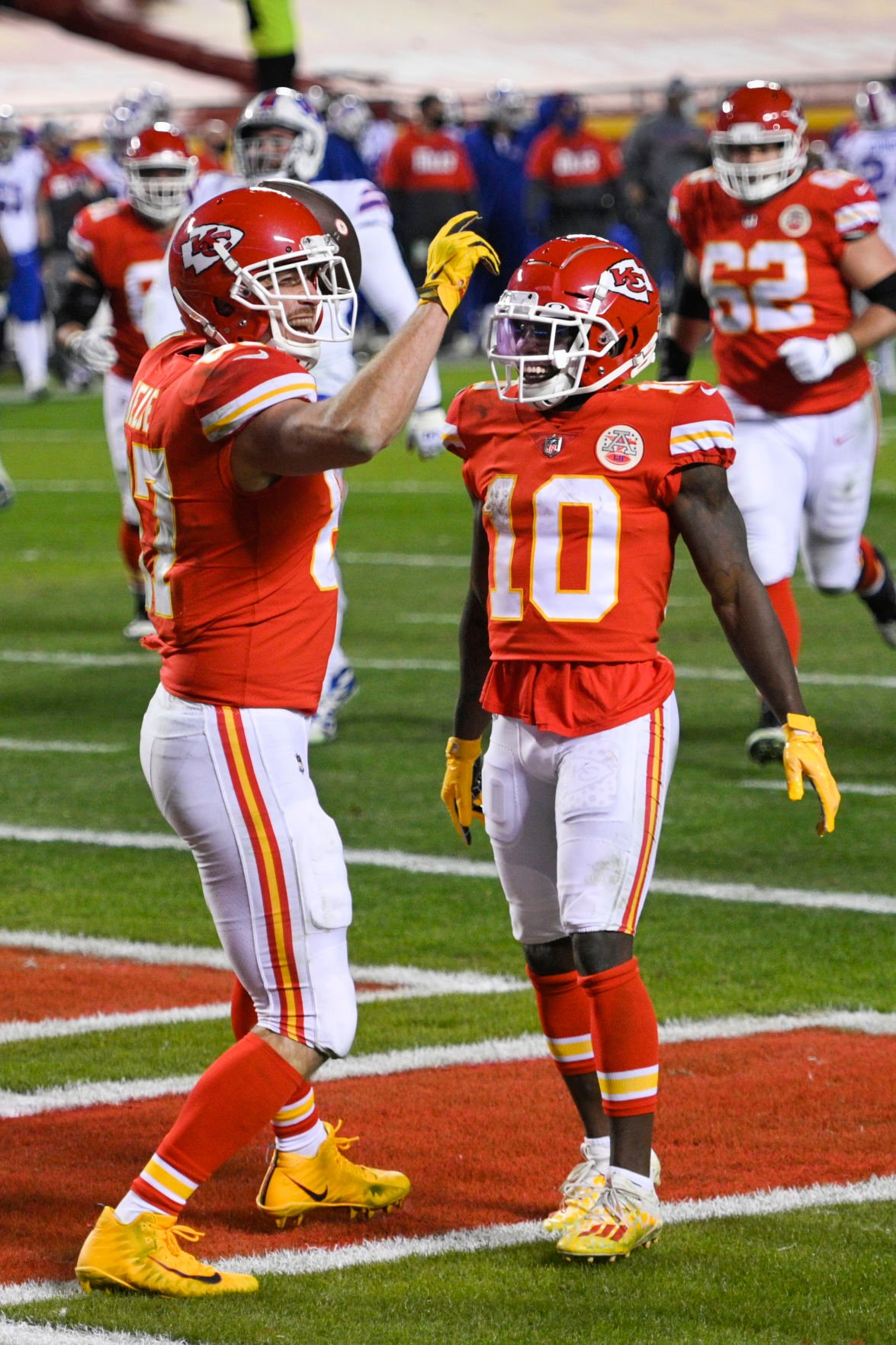 Kelce and Hill